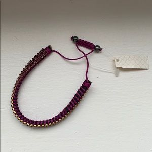 Jewelry - purple and gold bracelet